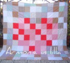 Trapunta matrimoniale in patchwork Matrimonial quilt in patchwork