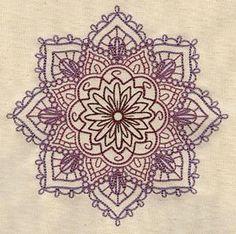 Mandala embroidery  #pattern   . . . .   ღTrish W ~ http://www.pinterest.com/trishw/  . . . .