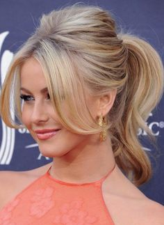 Lovely ponytails for medium hair - Updos