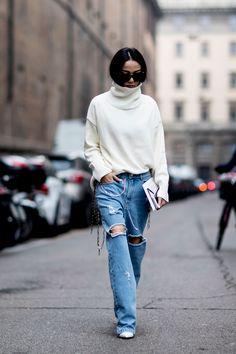 The Best Street Style At Milan Fashion Week Autumn Winter 2017
