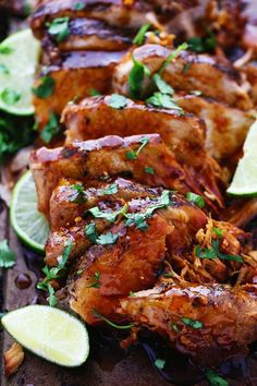 Delicious and tender pork cooked in the slow cooker with a honey, lime, soy, garlic, and ginger infused marinade. We ...
