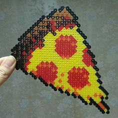 Pizza slice perler beads by j_minseon