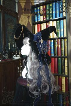 Witch's Astrology~ Lolita Hat For Halloween Witch Fashion, Lolita Fashion, Cosplay Outfits, Anime Outfits, Kleidung Design, Witch Outfit, Witch Dress, Fantasy Dress, Character Outfits