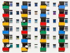 Coloured Balconies & Symmetry