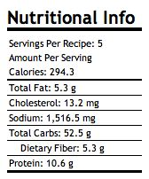Baked Spicy Fries with Garlic Cheese Sauce...too bad the pic shows nutrition info instead of the tasty pic. MMMMM