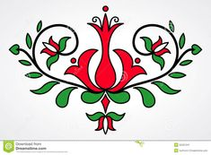 Traditional Hungarian Floral Motif - Download From Over 46 Million High Quality Stock Photos, Images, Vectors. Sign up for FREE today. Image: 55331241