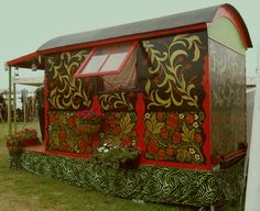What looks like a Gypsy Vardo Style TIny Home at PENNSIC!! :D   Rational excuses to go to pennsic once i have a tiny home +1