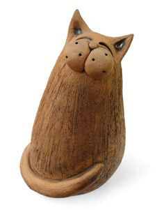 Ceramic cat by Eva Trbušková