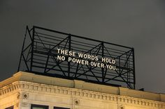 013 Packard Jennings' billboard installation on the corner of Highland and Baum in Pittsburgh, Pennsylvania Damien Chazelle, Polaroid, Neon Words, Pretty Words, Neon Lighting, Billboard, Techno, Hold On, Street Art