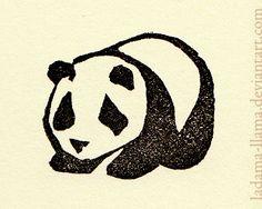 Eraser Stamp: Panda by =Ladama-Llama on deviantART