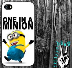 One In A Minion Minion Despicable Me Quote Apple iPhone Case by Skizzzledawg, $18.99