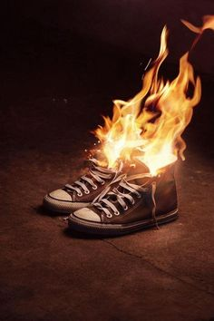 Chucks on fire, not that I would ever burn a pair of converse, but if looks that… Percy Jackson, Rick Riordan, Broken Dreams, Breathing Fire, Meninos Teen Wolf, Guy Best Friend, Wally West, The Adventure Zone, Adventure Time
