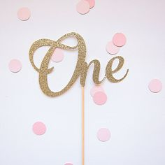 Custom number cake topper One gold glitter by LittleGlitterCo Number Cake Toppers, Number Cakes, Gold Glitter, Different Styles, Numbers, Party, Handmade, Etsy, Birthday Ideas