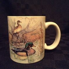 Otagiri Japan Wood Ducks Waterfowl Nature Hunting Coffee Cup Mug Marsh Bird #Otagiri