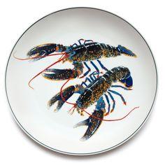 Jersey Pottery Seaflower Blue Lobster Large Round Platter #JerseyPottery #ceramics #pottery #shellfish #marine
