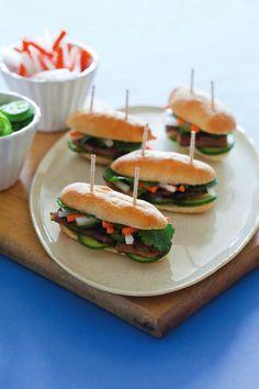 Bahn Mi Bites: Think Outside the Dessert Table: 23 Fresh Food Stations via Brit + Co.