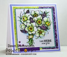 My Stamping Thyme: Daffodils stamp set by Power Poppy.