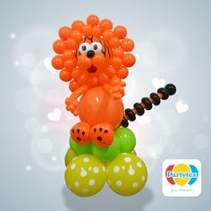 Figura de un #Tigre elaborado con #Globos #Partytex.  @partytex #partytex #globos #globoflexia #balloons #balões #milfiguras #twisty partytex.com.