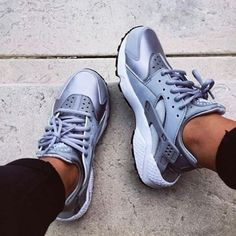 best cheap ac8c6 9a068 Shoes  nike air huarache huarache sneakers nike metallic nike new nikes  fashion grey grey grey gray