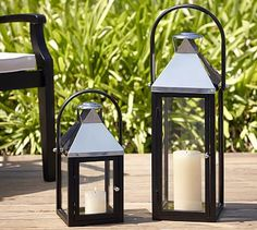 Shane Lantern #potterybarn  Hang on Either Side of TV with Flameless Candles and Remote
