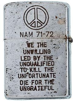 Zippo lighter from Vietnam 1971.