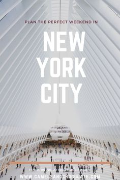 Long Weekend Getaway: Three Perfect Days in New York City. New York City is one of my favorite cities in the world, and one that I once called home. It is near impossible to cram in all my favorite New York City activities into only three days but we gave it our best shot! This New York City itinerary doesn't necessarily encompass every tourist stop in town, I hope it's a mix of must-dos and new-to-yous that you can refer to on your next city getaway to New York City.   Camels and Chocolate