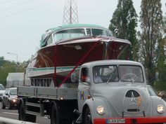 The Ultimate Classic Boating Lifestyle boat transporter.