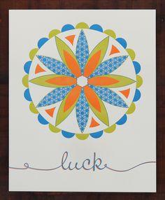 Letterpress Modern Hex Sign Design for Luck - Barn Star. $50.00, via Etsy.