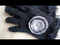 МК за 3 минуты. Как вязать перчатки крючком. - YouTube