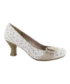 Another great find on #zulily! Natural Lace Bliss Pump by Jellypop #zulilyfinds