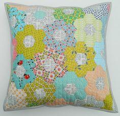 texty hexies pillow