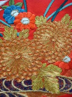 Couching and a really great article on Japanese Embroidery! :)