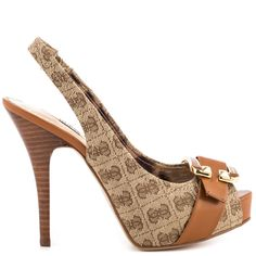 Izaihas - Brown Multi Fab by Guess Footwear - This pair is one of my favorite, they are pretty comfy! Shoe Boots, Shoes Heels, Pumps, Top Shoes, Guess Shoes, Me Too Shoes, Zapatillas Peep Toe, Spike Heels, Lace Up Heels