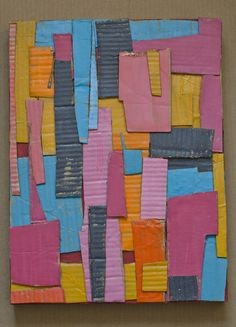 cardboard collage | von Lari Washburn