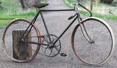 Antique-Racycle-Pacemaker-Wood-Wheel-Bicycle-Vintage-Racing-Bike-Flying-Merkel