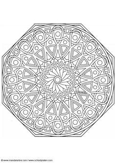 Dibujo para colorear MandalaD8