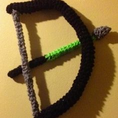 bow & arrow amigurumi crochet original creation no pattern by emma perez-valle