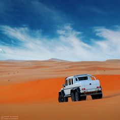 Like a painting. The G63 AMG 6x6 in its natural habit. Photo shot by @omaralfehaid.   #AMG #AdventureMobile #campvibes