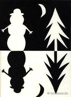 Positiv-Negativ Schneelandschaft Art Education, Positivity, Art Lessons