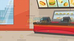 Inside A Fast Food Restaurant Background Fast food Fast food restaurant Food clipart