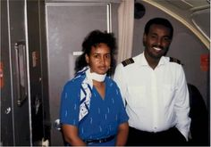 Somali Airlines pilot and cabin crew from before the civil war. Somali Airlines will be in operation very soon in 2014. A Boeing 737-476 alr...