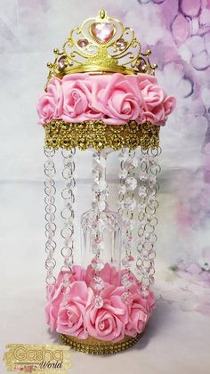 Vital Factors In The Best Quinceanera Party Decorations Revealed - Happier Every Day Princess Tiara, Baby Girl Princess, Baby Shower Princess, Princess Birthday, Princess Party, Princess Jewelry, Shower Baby, Crown Centerpiece, Quince Centerpieces