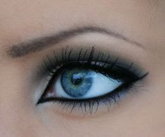 blue eyes with black liner!