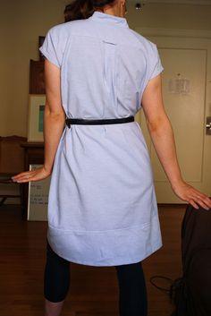 DIY: Men's Shirt to Shirt Dress