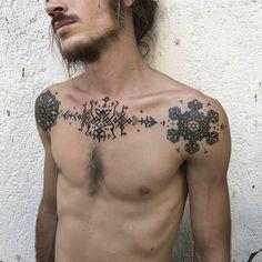 Cool Mens Tattoo Design Ideas, Male Tattoo Placements   #Design #ideas #placements #Tattoo