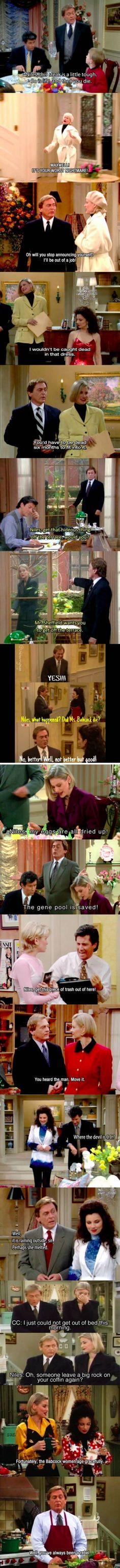 I miss The Nanny, Niles' burns were the best!