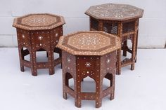 Kashmiri Inlaid Tables | From a unique collection of antique and modern tables at https://www.1stdibs.com/furniture/tables/tables/