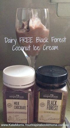DAIRY FREE BLACK FOREST COCONUT ICE CREAM. YUM