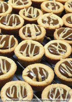 Peanut Butter Chocolate Cups - OMGChocolateDesserts.com