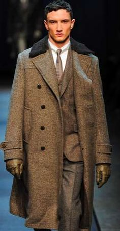 Luxe Russian Menswear - The Canali Fall/Winter 2013 Menswear Collection is Rugged Yet Intricate (GALLERY)
